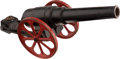 Antiques:Toys, Cast Iron Toy Cannon....
