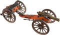Antiques:Toys, Finely Detailed Model Cannon and Caisson.... (Total: 2 Items)