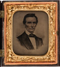 Photography:Cabinet Photos, Abraham Lincoln: Sixth Plate Campaign Ambrotype....