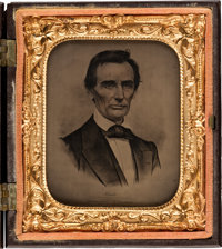 Abraham Lincoln: Sixth Plate Campaign Ambrotype