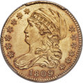 Early Half Eagles, 1809/8 $5 BD-1, High R.3, MS63 PCGS. CAC....