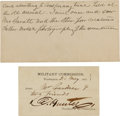 Political:Small Paper (pre-1896), [Abraham Lincoln]: Alexander Gardner's Pass to the Trial of the Conspirators....