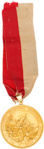 Military & Patriotic:Foreign Wars, Mexican-American War: South Carolina Palmetto Regiment Gold Medal with Ribbon....