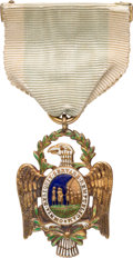 Military & Patriotic:Revolutionary War, [George Washington]: Society of the Cincinnati Medal with Ribbon....
