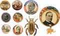 Political:Pinback Buttons (1896-present), William McKinley: Nine Assorted Campaign Items....