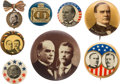 Political:Pinback Buttons (1896-present), William McKinley: Eight Assorted Campaign Buttons....