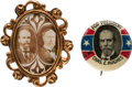 Political:Pinback Buttons (1896-present), Hughes & Fairbanks: Jugate and Picture Pin.... (Total: 2 Items)