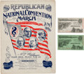 Political:Small Paper (1896-present), William McKinley: Republican National Convention Items....
