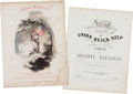 Political:Small Paper (pre-1896), Millard Fillmore: Two Examples of Sheet Music....