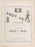 Political:Small Paper (pre-1896), Andrew Johnson: 1866 Satirical Sheet Music....