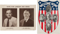 Woodrow Wilson and Landon & Knox: Pair of Posters