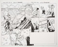 Original Comic Art:Splash Pages, Mark Bagley and Andrew Hennessy Hulk #8 Double Splash Page2-3 (Marvel, 2015)....