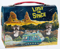 Memorabilia:Lunch Boxes, Lost in Space Dome Top Lunch Box (Thermos, 1967)....