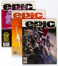 Epic Illustrated Group of 9 (Marvel, 1980-85) Condition: Average VF/NM.... (Total: 9 Comic Books)