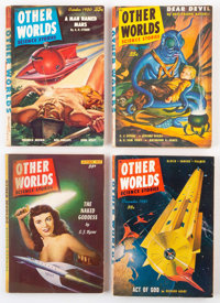 Other Worlds Group of 4 (Clark Publishing, 1950-52) Condition: Average VG/FN.... (Total: 4 Comic Books)