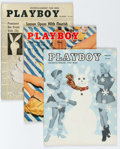 Magazines:Miscellaneous, Playboy 1955 Group of 4 (HMH Publishing, 1955) Condition: AverageFN.... (Total: 4 Items)
