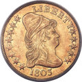 Early Eagles, 1803 $10 Small Reverse Stars, BD-3, R.4, AU58 PCGS. CAC....