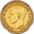 Great Britain: George VI gold Matte Proof 1/2 Sovereign 1937 PR62 NGC
