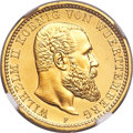German States:Württemberg, German States: Württemberg. Wilhelm II gold Proof 10 Mark 1907-F PR67 Ultra Cameo NGC,...