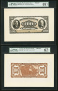 Canadian Currency, Toronto, ON- Dominion Bank $100 Feb 1, 1931 Ch. # 220-24-14P Faceand Back Proofs.. ... (Total: 2 notes)