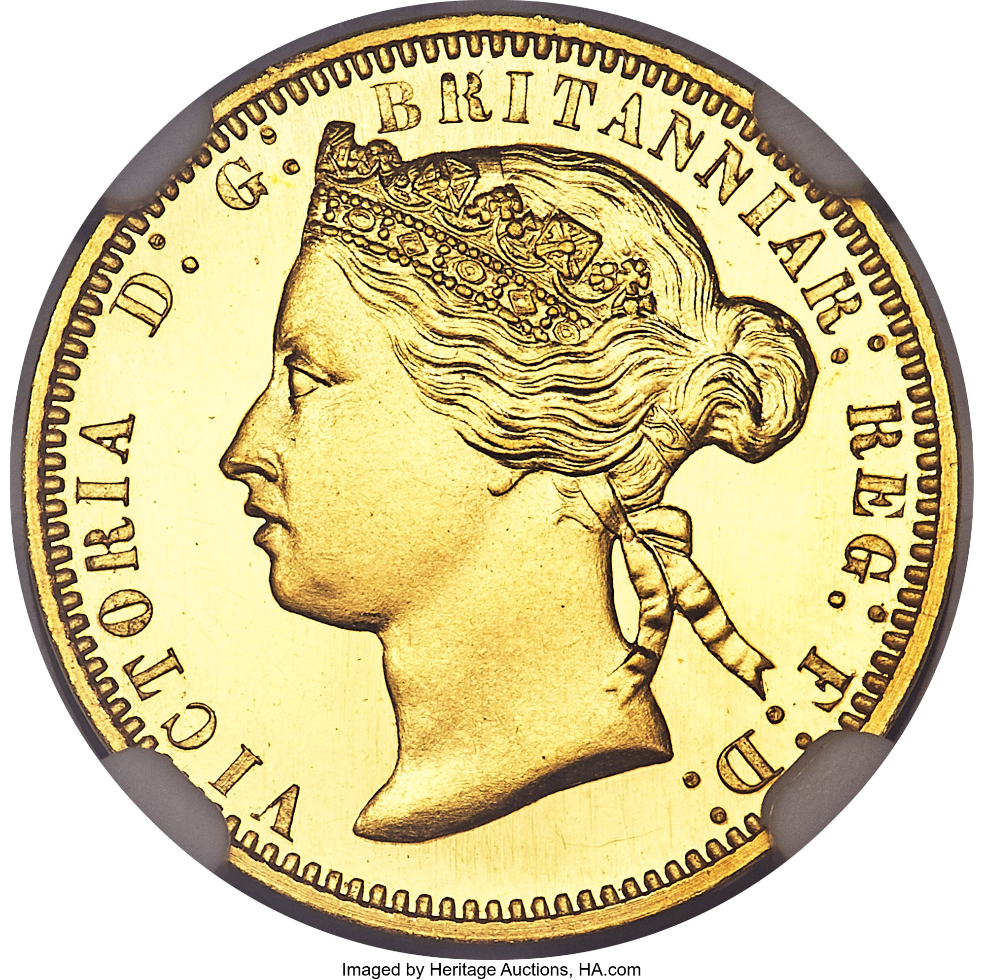 Great Britain Victoria Gold Proof Pattern Ducat Of 100 Pence 1867 Lot 30334 Heritage Auctions