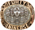 Football Collectibles:Others, 1994 San Francisco 49ers Super Bowl XXIX Championship Ring Presented to Charles Mann.. ...
