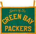 Football Collectibles:Others, 1960's Green Bay Packers Pennant/Banner Originally Obtained from Lombardi's Secretary.... (Total: 21 item)
