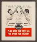 Baseball Collectibles:Others, Circa 1942 Joe DiMaggio & Ted Williams Hillerich & Bradsby Advertising Poster - One of Few Known!...