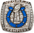 Football Collectibles:Others, 2006 Indianapolis Colts Super Bowl XLI Championship Ring Presented to Defensive Tackle Montae Reagor.. ...