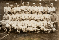 1915 Boston Red Sox with Rookie Babe Ruth Original News Photograph, PSA/DNA Type 1