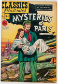 Golden Age (1938-1955):Classics Illustrated, Classics Illustrated #44 Mysteries of Paris - First Edition(Gilberton, 1947) Condition: FN....