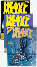 Magazines:Science-Fiction, Heavy Metal Group of 41 (HM Communications, 1977-83) Condition: Average FN.... (Total: 41 Items)