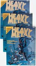 Magazines:Science-Fiction, Heavy Metal #1 Group of 5 (HM Communications, 1977) Condition: Average FN.... (Total: 5 Comic Books)