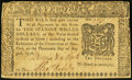 Colonial Notes:New York, New York August 13, 1776 $10 Very Fine.. ...