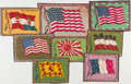 "Non-Sport Cards:General, C. 1912 B2, B3, B4 and B5 ""National Flags"" Blankets Collection(24). ..."
