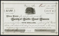 Obsoletes By State:Nevada, Virginia, NV - Society of Pacific Coast Pioneers $5 Receipt Mar. 12, 1877. ...