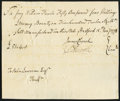 Colonial Notes:Connecticut, Connecticut Handwritten Pay Voucher £51 4s January 15, 1778.. ...
