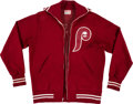 Baseball Collectibles:Others, Circa 1980 Pete Rose Game Worn Signed Philadelphia Phillies Jacket. ...