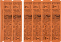 Baseball Collectibles:Tickets, 1925 World Series Game Seven Full Tickets Sheet of 6. ...