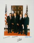 Autographs:Photos, Circa 1990 Ronald Reagan, Gerald Ford, Jimmy Carter & Richard Nixon Signed Oversized Photograph. ...