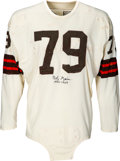 Football Collectibles:Uniforms, 1950's Bob Gain Game Worn & Signed Cleveland Browns Jersey....