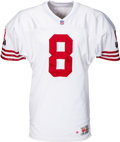 Football Collectibles:Uniforms, 1995 Steve Young Game Worn San Francisco 49ers Jersey - Used 12/24 vs. Falcons (Team LOA)....