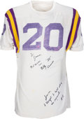 Football Collectibles:Uniforms, 1959 Billy Cannon Game Worn & Signed LSU Tigers Jersey.. ...