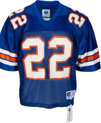 1989 Emmitt Smith Game Worn & Signed University of Florida Gators Jersey--Photo Matched with Smith Letter!
