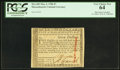 Colonial Notes:Massachusetts, Massachusetts May 5, 1780 $7 Punch Cancel PCGS Very Choice New 64.. ...
