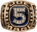 Baseball Collectibles:Others, 1990's Joe DiMaggio Career Ring. ...