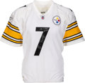 Football Collectibles:Uniforms, 2008 Ben Roethlisberger Preseason Game Worn & Signed Pittsburgh Steelers Jersey--Photo Matched!. ...