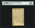 Colonial Notes:Rhode Island, Rhode Island June 29, 1775 4s PMG Choice Extremely Fine 45 Net.....