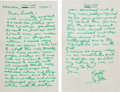 Baseball Collectibles:Others, 1957 Ty Cobb Handwritten & Signed Letter....