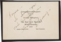 Baseball Collectibles:Others, 1937 Lou Gehrig Signed New York Yankees Celebration Invitation. ...